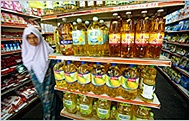 woman in food store