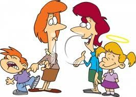 cartoon mothers w: kids